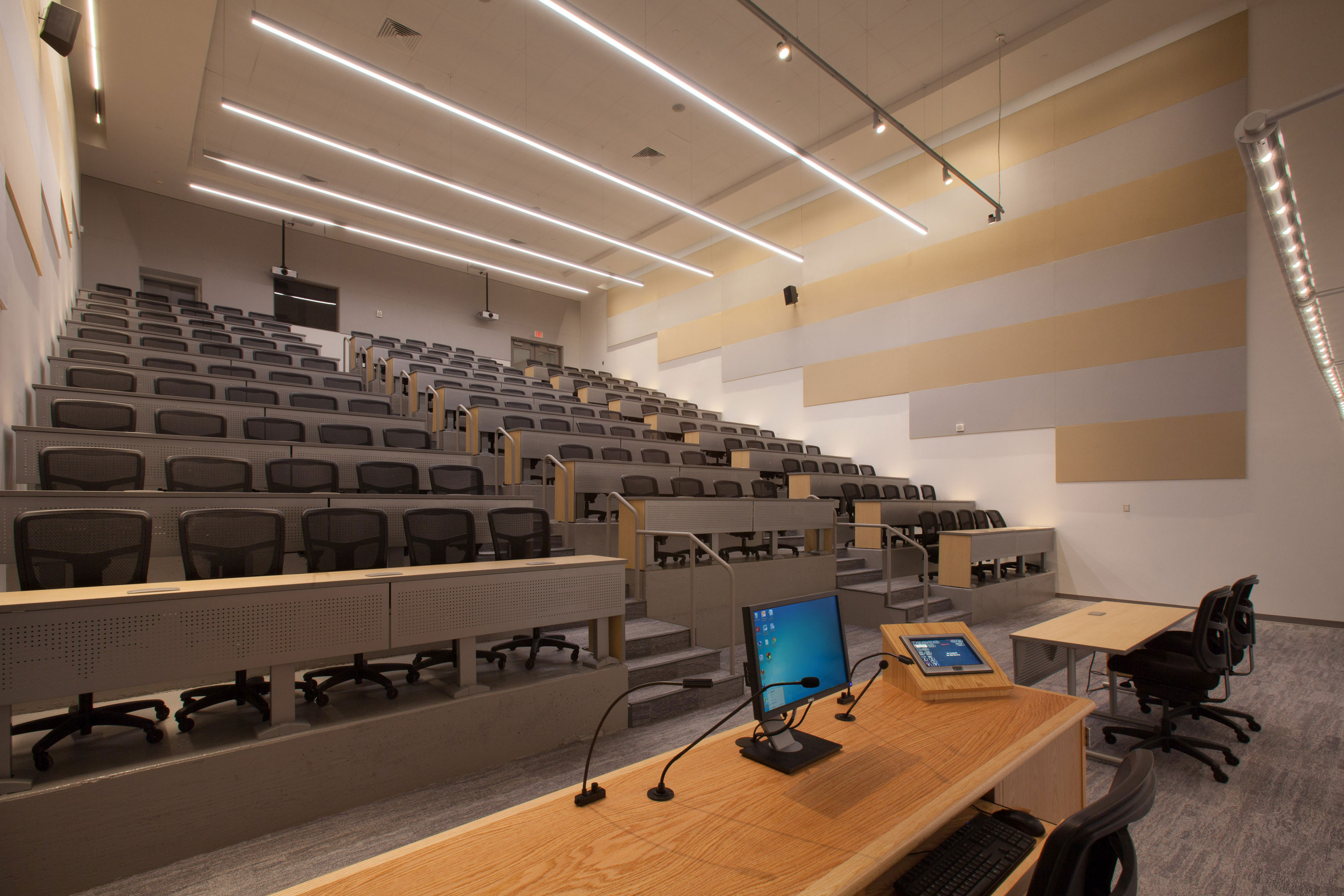 Tiered Classroom Design Standards ~ Temple university pearson and mcgonigle halls renovation