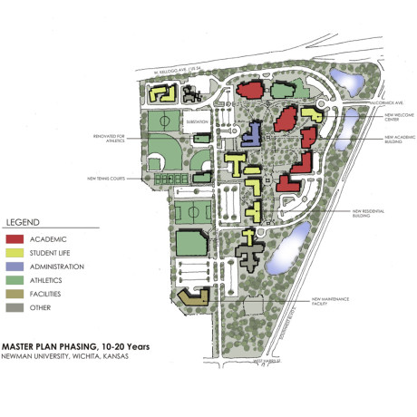 Newman University Campus Map.Campus Master Plan Hastings Chivetta